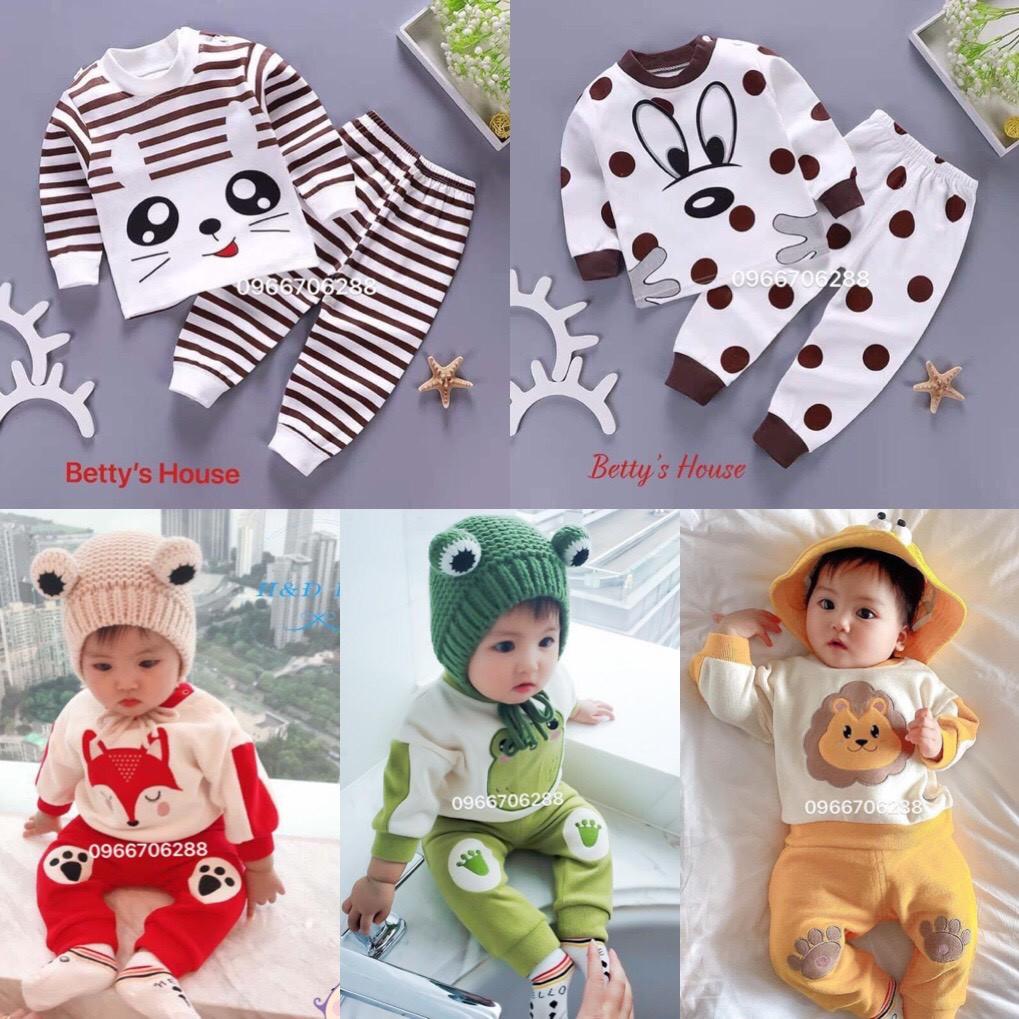 [SALE SOCK] Bộ quần áo trẻ em dài tay thun cotton co dãn 4 chiều cho bé từ 0-5 tuổi