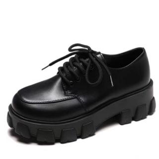 (CÓ SẴN + ảnh thật) Giày oxford ulzzang da độn đế lạ