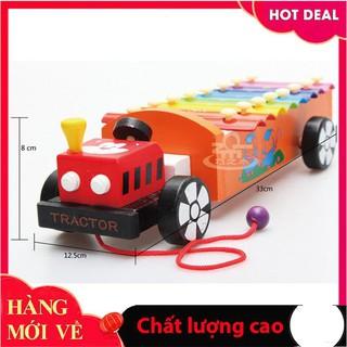 [Hỗ trợ giá] Đàn xe kéo ô tô – Đồ chơi gỗ an toàn cho bé_Đảm bảo chất lượng