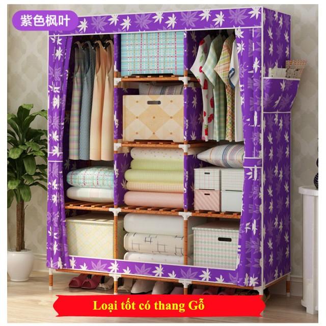 Tủ vải quần áo khung gỗ 3 buồng 8 ngăn - Tím - 3354928 , 511305116 , 322_511305116 , 299000 , Tu-vai-quan-ao-khung-go-3-buong-8-ngan-Tim-322_511305116 , shopee.vn , Tủ vải quần áo khung gỗ 3 buồng 8 ngăn - Tím