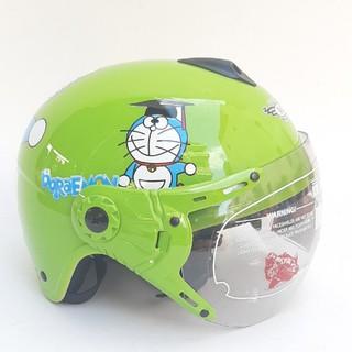 Mũ bảo hiểm cho bé doremon có kính - siêu xinh - Dành cho bé từ 2 đến 6 tuổi - V&S Helmet - VS103KS
