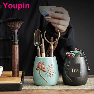 Phụ kiện bộ ấm trà Kung Fu gỗ mun nguyên khối đạo sáu quý ông Daquan 6 pha dụng cụ dùng Kẹp kim t thumbnail