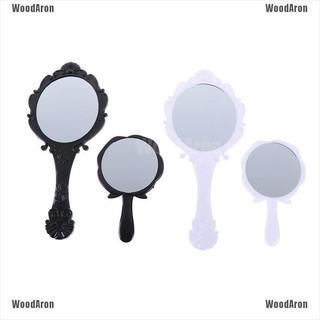 Gương cầm tay trang điểm họa tiết hoa xinh xắn phong cách retro thời trang cho nữ