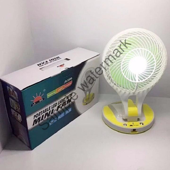 Quạt sạc tích điện cao cấp kèm đèn JR-5580[TỔNG KHO GIÁ SỈ]