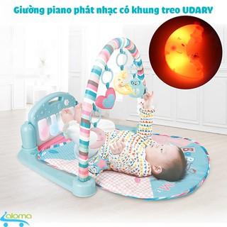 Giường thảm Piano phát nhạc Udary GN09 cho bé từ 0-3 tuổi có điều khiển