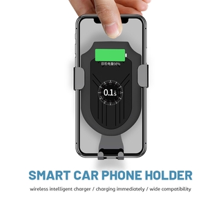 Automatic Wireless Car Charging Phone Holder Silicone Phone Stand Fast Charging Gravity Car Mount Widely Compatible