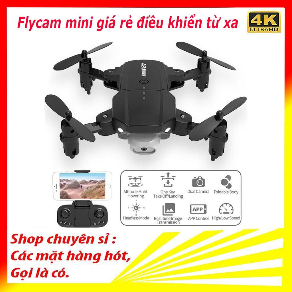 FLYCAM, Flycam mini giá rẻ điều khiển từ xa 4k dòng F87 - Chống rung rung quang học
