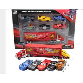 Bộ xe mô hình ô tô MC Queen gồm xe tải và 6 xe nhỏ bằng hợp kim