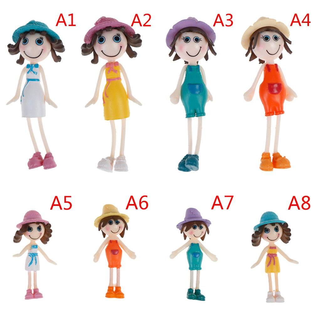 1Pcs 1:12 Dollhouse miniature doll simulation summer figure model toys