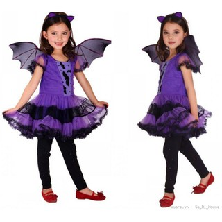 Váy người Dơi – Trang Phục Hóa Trang Halloween ( Purple Bat Girl )