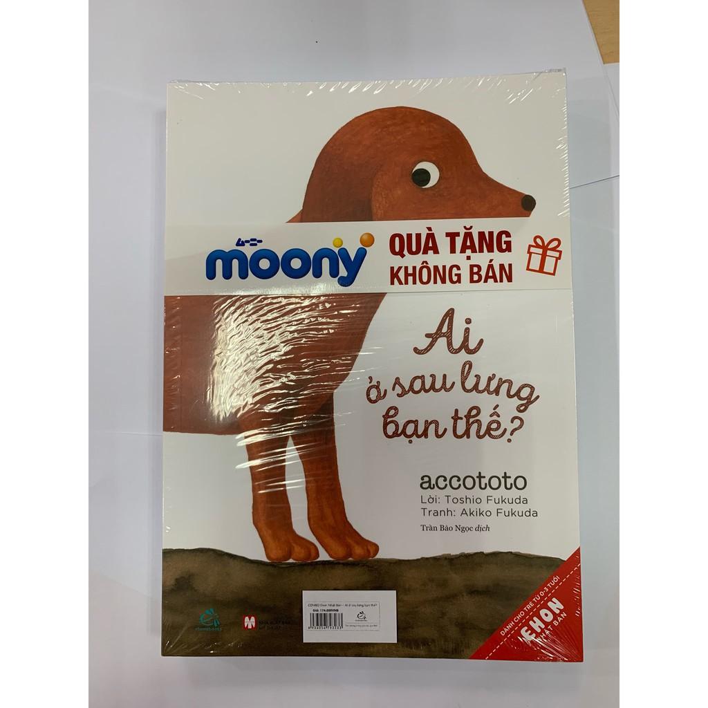 [Tặng bộ 6 cuốn Ehon] Bộ 2 Tã quần cao cấp bé trai/gái Moony M58/L44/XL38/XXL26/NB90 - Bao bì mới