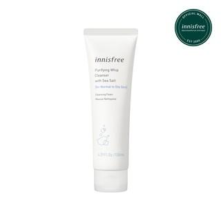 Sữa rửa mặt thanh lọc da từ muối biển innisfree Sea Salt Whipping Cleanser 130ml