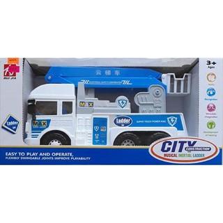 Đồ chơi xe cứu hộ dùng pin phát nhạc, xe cứu hộ giao thông (kèm pin+loại to)