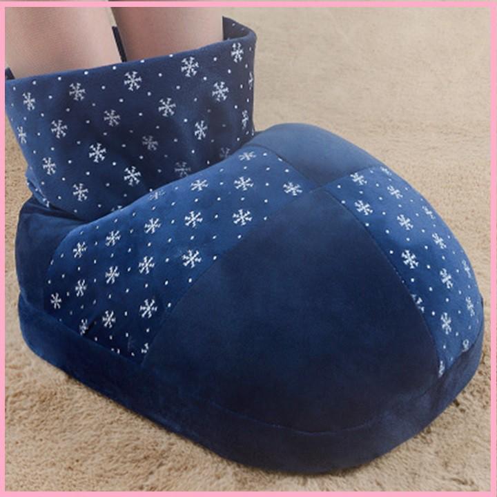 RE0351 Túi sưởi chân cắm điện cao cổ - Túi chườm túi sưởi - Ủng vải sưởi chân