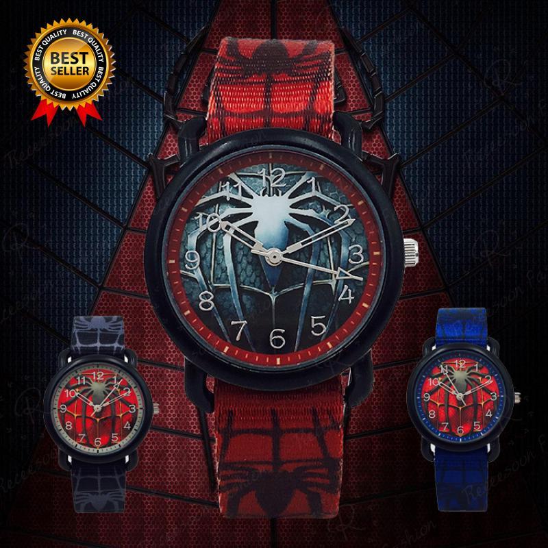 Đồng hồ đeo tay mặt hình người nhện cho bé trai thumbnail