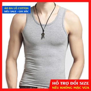 Áo Ba Lỗ Nam - Tank Top Cotton Cực Mát - Dùng để Tập thể dục , thể thao, tập GYM thumbnail