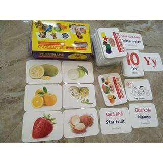 SALE Bộ Thẻ Học Thông Minh Flashcard Loại Thẻ To gồm 14 chủ đề và 280 thẻ song ngữ cho bé