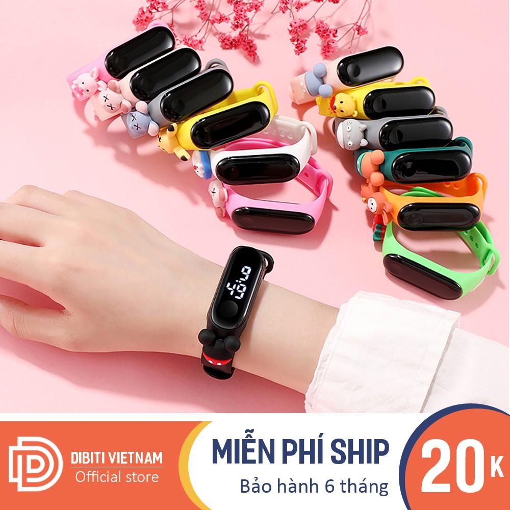 (Giá Sỉ) Đồng hồ trẻ em unisex Led Z135 dây Silicon hoạt hình ngộ nghĩnh dễ thương, chống nước nhẹ bảo hành 6 thán