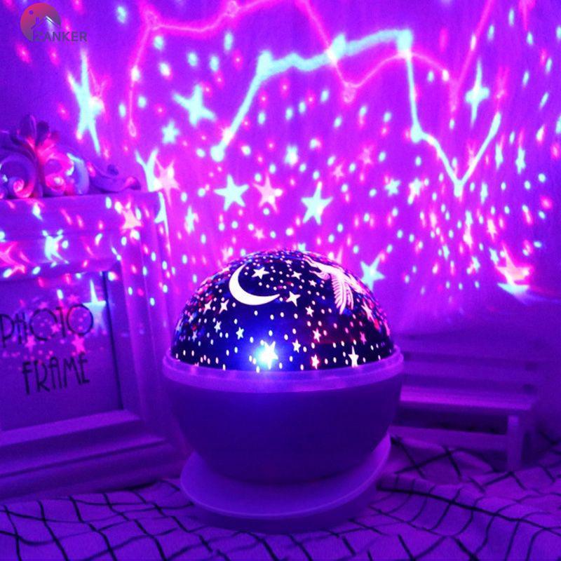 Đèn chiếu bầu trời đầy sao lãng mạn trang trí phòng ngủ cho bé
