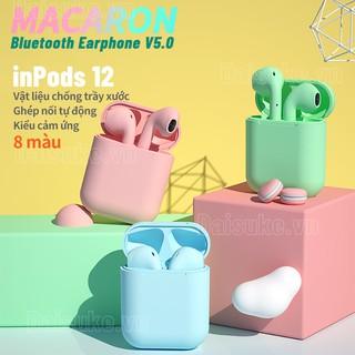 Tai nghe không dây Inpods12 TWS kết nối bluetooth 5.0 màu sắc Macaron âm thanh HIFI chất lượng cao