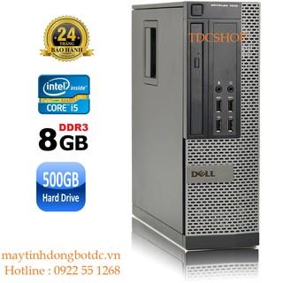 Case máy tính để bàn Dell Optiplex 7010 intel Core i5 3470, Ram 8GB, HDD 500GB. Hàng Nhập Khẩu. Tặng usb thu wifi thumbnail