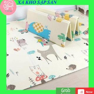 Thảm xốp XPE 2 mặt phủ Silicone chống thấm tuyệt đối cho bé tập bò kèm túi 1m8x2m thumbnail