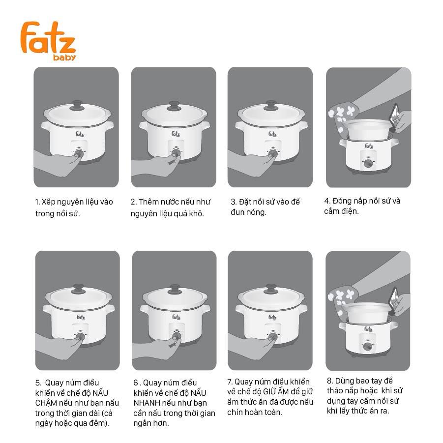 Nồi nấu chậm 1,5 lít Fatz Baby SLOW 1 FB9015MH