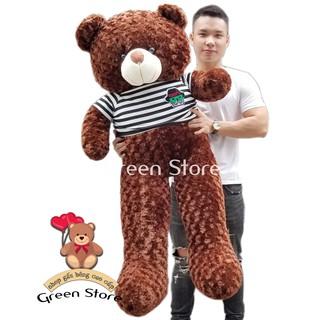 (Ảnh Thật 100%)-Gấu bông teddy 1m6 khổ vải – cao 1m4 Rẻ Vô Địch