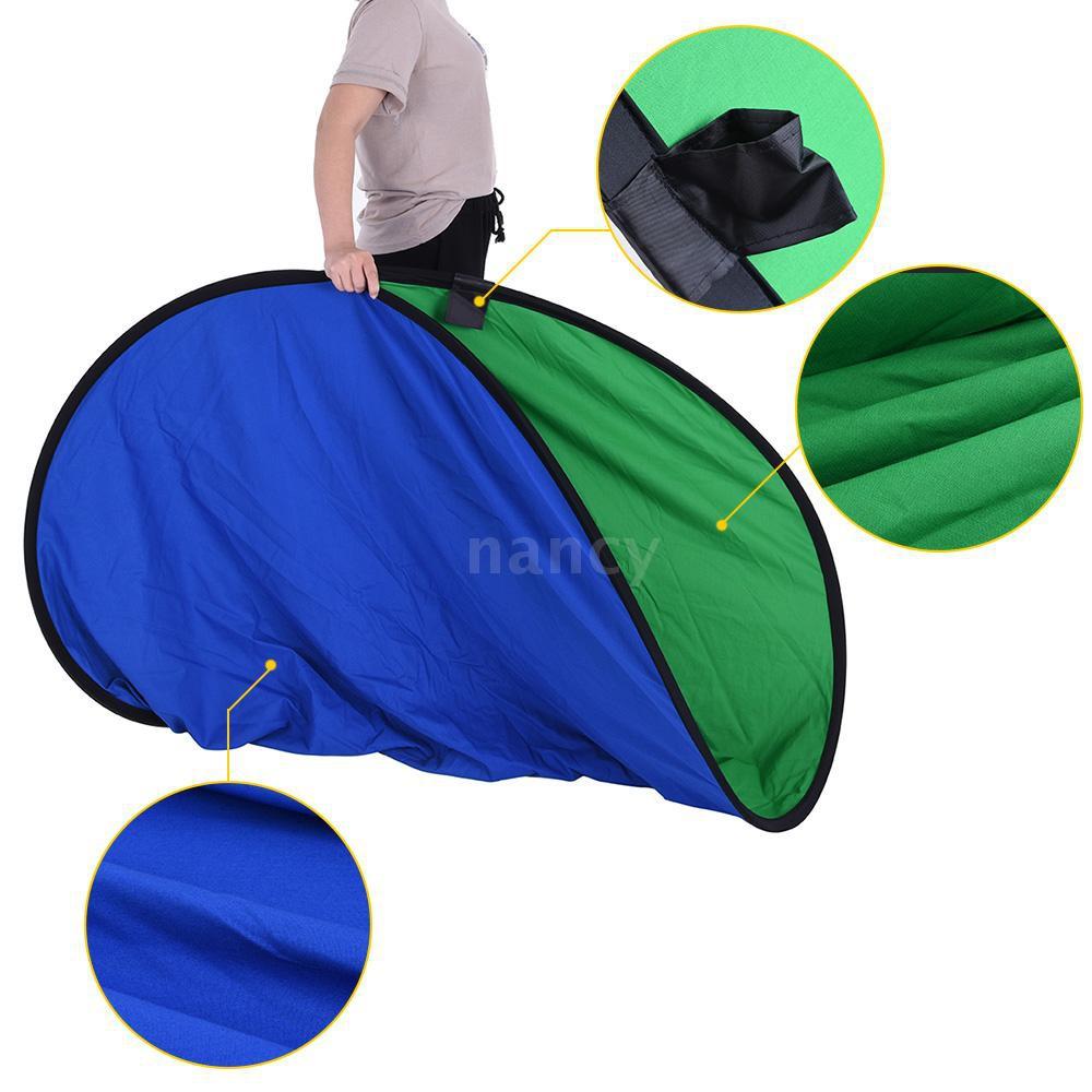 Tấm phông nền chụp ảnh màu xanh dương và xanh lá 2 trong 1 bằng cotton 1.5*2.0m tiện dụng