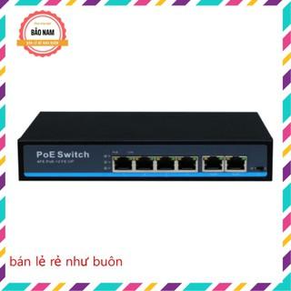 Switch PoE 4+2 Port Smart (bộ chia mạng poe 4 cổng, 2 cổng uplink) hàng chính hãng Global