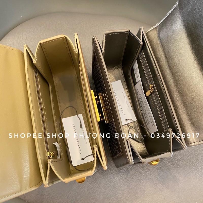 [C.K ĐAN] Túi khuy bóp Cê ka size 19 Vàng gold bản Xuâttt