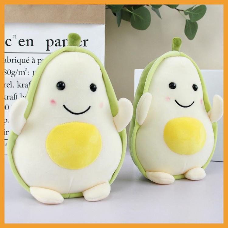 Gấu Bông Gối Ôm Quả Bơ Trứng Siêu Cute, Quả Bơ Trứng Nhồi Bông Cao Cấp Kích Thước 20cm Siêu Đáng Yêu, Quà Tặng Cho Bé