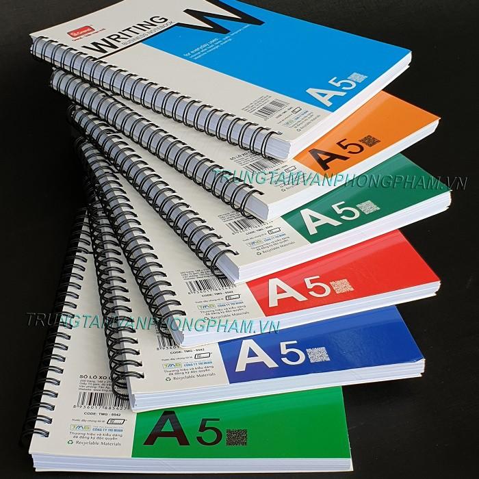 [Mã BMHOT88 giảm 15% đơn 99K] Sổ lò xo Grand A5 dày 200 trang TMG-8542 148 x 210cm giấy 70gsm, độ trắng ISO 90