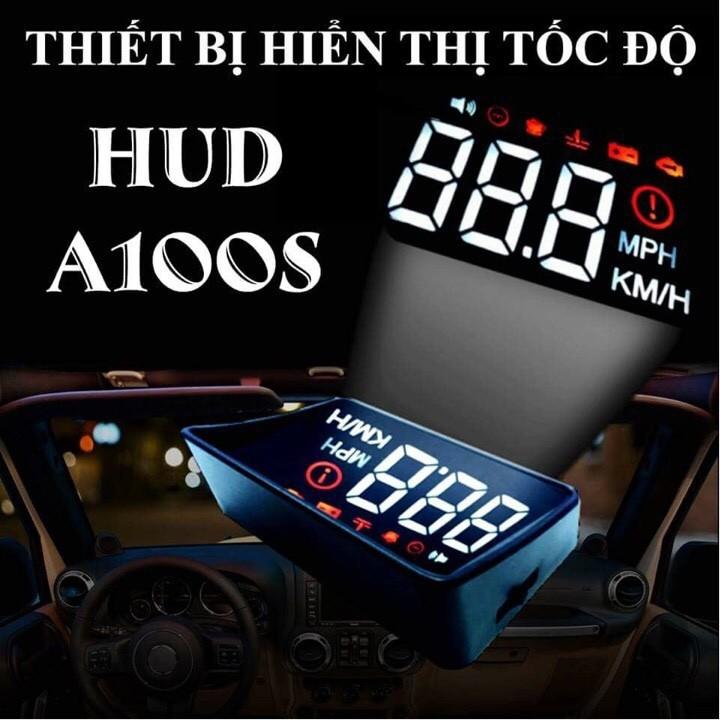 Thiết bị hiển thị tốc độ lên kính lái ô tô HUD A100S mẫu 2018