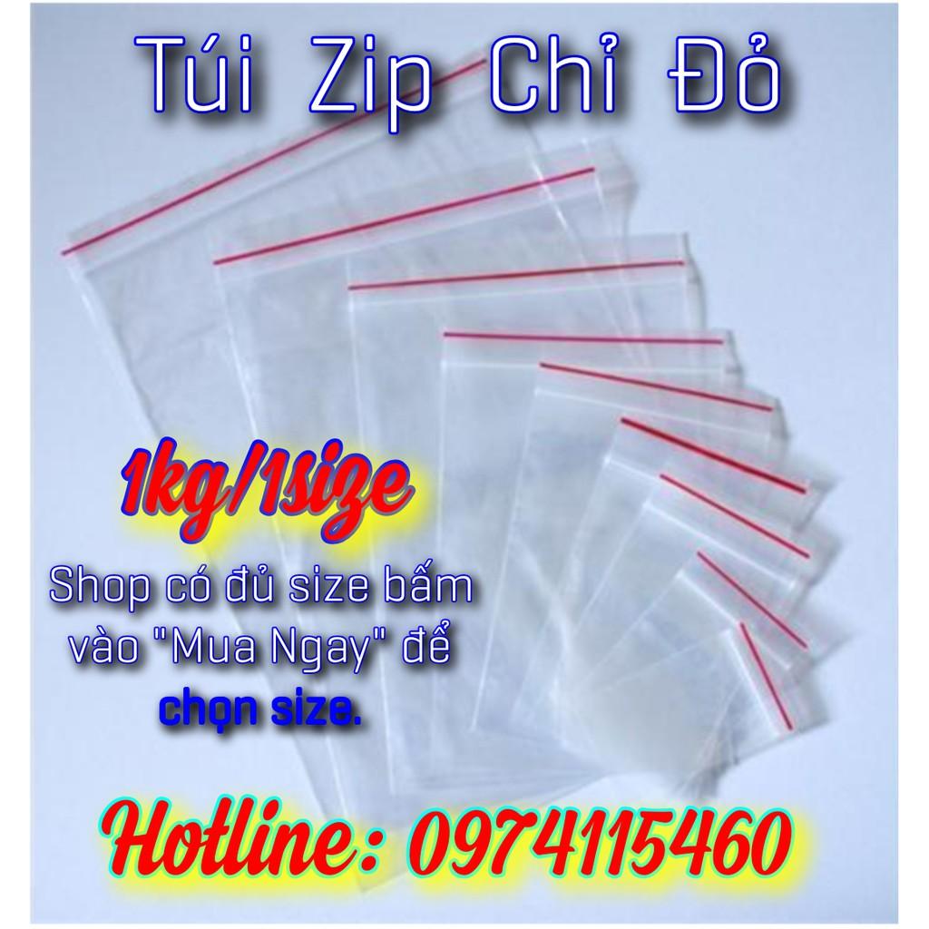 túi zip chỉ đỏ (1kg/1size)