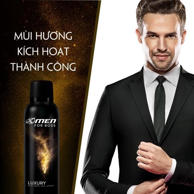 Xịt khử mùi X-Men For Boss Luxury 150ml