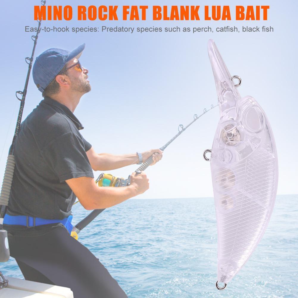 Unpainted Blank Fake Fishing Bait Hard Lures Plastic Wolers Crankbait Assembly
