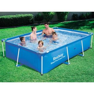 Bể bơi Bestwat khung chống kim loại (56403 ) 2.59m x 1.70m x 61cm