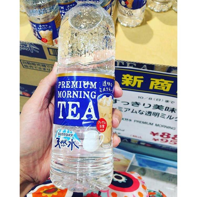 Nước lọc vị trà sữa Premium Moring Tea chai 550ml Nhật Bản