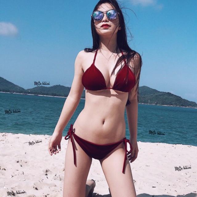 Bikini nhung - 2 mảnh basic