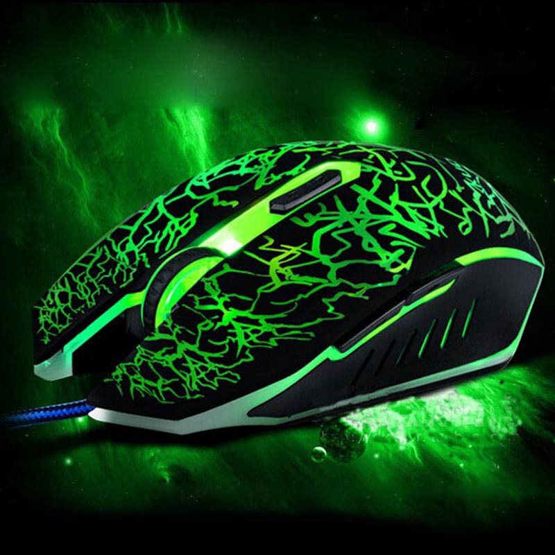 【COD】 Computer&Laptop Mouse Backlight Gaming Optical Wired Mice With Six Button