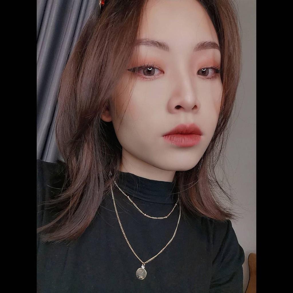 [ Lens nâu xám tây ] Kính áp tròng Hàn Quốc Lens mắt SHINE BROWN - Lens cận thời trang