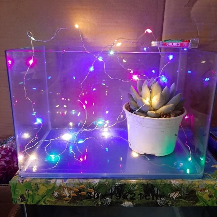 Dây đèn led trang trí lọ hoa, / đèn led đom đóm có thể trang trí lọ hoa, trang trí chậu hoa trong nhà hoặc ngoài vườn