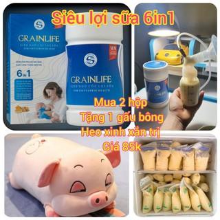 Siêu ngũ cốc lợi sữa Long Liên (hộp 500gr) – 100% Organic [Chính Hãng]