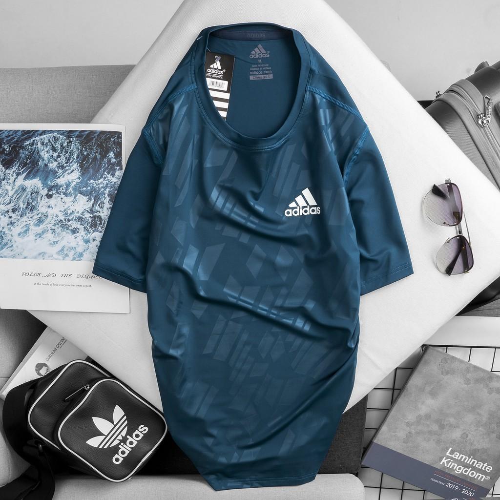 Áo thun lạnh thể thao nam, chất thun poly 4 chiều co dãn, thoáng mát thấm hút mồ hôi, vải mềm mịn, không xù - AT40