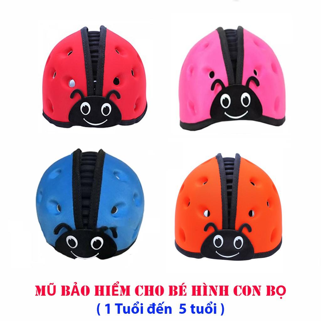 Mũ Bảo Hiểm Cho Bé Hình Bọ Dể Thương<<1 Đến 5 T