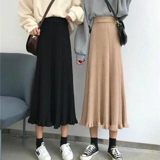 Chân váy len dài quãng châu có sẵn