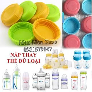 (Đủ size) Nắp bình sữa, nắp bình trữ sữa nhựa an toàn BPA free - vừa cổ rộng cổ hẹp cổ thường thumbnail