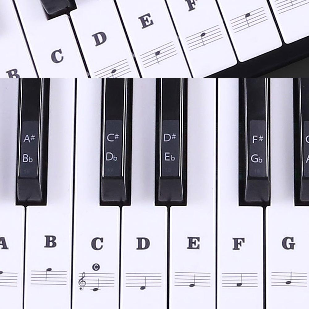 Music Keyboard /Piano Stickers 88/ 61/ 54/ 49 Key Learn To Play Faster Beginner