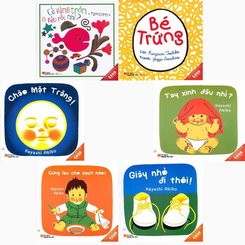 Set Ehon Nhật Bản 6 cuốn ( Dành cho bé dưới 2 tuổi )